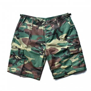 <img class='new_mark_img1' src='https://img.shop-pro.jp/img/new/icons55.gif' style='border:none;display:inline;margin:0px;padding:0px;width:auto;' />US MILITARY B.D.U RIPSTOP SHORT PANTS / WOODLAND CAMO (USミリタリー カーゴパンツ/ショーツ/ショートパンツ)