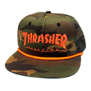 <img class='new_mark_img1' src='//img.shop-pro.jp/img/new/icons5.gif' style='border:none;display:inline;margin:0px;padding:0px;width:auto;' />THRASHER LOGO ROPE SNAPBACK CAP / CAMO (スラッシャー 6パネルスナップバックキャップ)