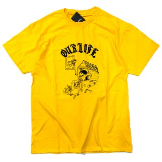 <img class='new_mark_img1' src='//img.shop-pro.jp/img/new/icons5.gif' style='border:none;display:inline;margin:0px;padding:0px;width:auto;' />OUR LIFE DOG HOUSE TEE / YELLOW (アワーライフ TEE/Tシャツ)