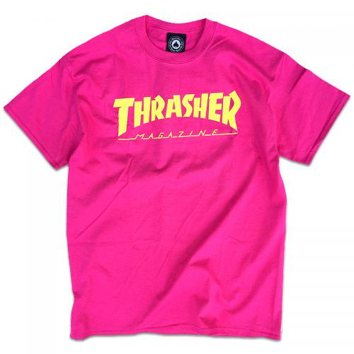 【30%OFF】THRASHER LOGO TEE / PINK (スラッシャー ロゴTシャツ) <img class='new_mark_img2' src='//img.shop-pro.jp/img/new/icons41.gif' style='border:none;display:inline;margin:0px;padding:0px;width:auto;' />