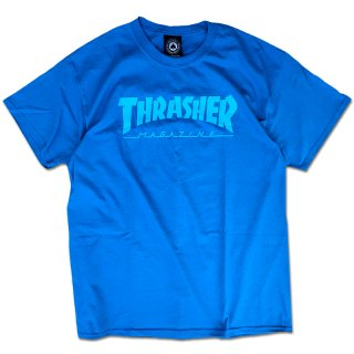 【30%OFF】THRASHER LOGO TEE / SAPPHIRE (スラッシャー ロゴTシャツ) <img class='new_mark_img2' src='//img.shop-pro.jp/img/new/icons41.gif' style='border:none;display:inline;margin:0px;padding:0px;width:auto;' />