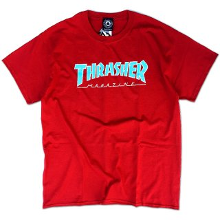 <img class='new_mark_img1' src='//img.shop-pro.jp/img/new/icons5.gif' style='border:none;display:inline;margin:0px;padding:0px;width:auto;' />THRASHER OUTLINED LOGO TEE / CARDINAL RED (スラッシャー ロゴTシャツ)