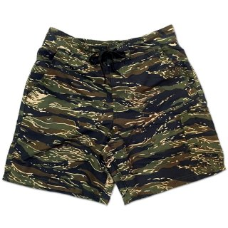 <img class='new_mark_img1' src='//img.shop-pro.jp/img/new/icons55.gif' style='border:none;display:inline;margin:0px;padding:0px;width:auto;' />CAMOUFLAGE SWIM SHORT PANTS / TIGER STRIPE CAMO (カモフラージュ柄スイムショーツ/ショートパンツ)