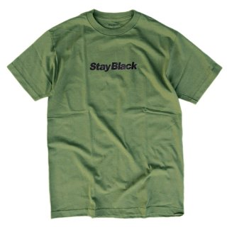 <img class='new_mark_img1' src='//img.shop-pro.jp/img/new/icons5.gif' style='border:none;display:inline;margin:0px;padding:0px;width:auto;' />STAY BLACK ORIGINAL LOGO TEE / ARMY GREEN×BLACK (ステイブラック 半袖Tシャツ)
