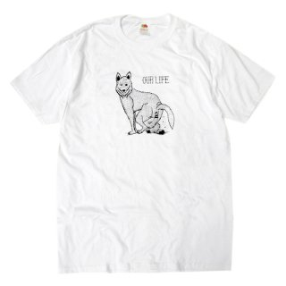 <img class='new_mark_img1' src='//img.shop-pro.jp/img/new/icons5.gif' style='border:none;display:inline;margin:0px;padding:0px;width:auto;' />【30%OFF】OUR LIFE WOLF SHIT TEE / WHITE (アワーライフ TEE/Tシャツ)