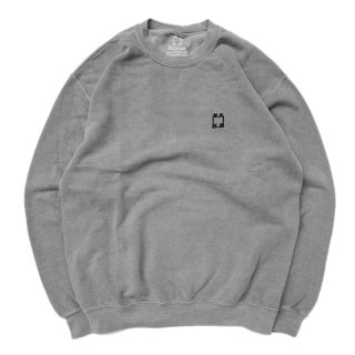 <img class='new_mark_img1' src='//img.shop-pro.jp/img/new/icons5.gif' style='border:none;display:inline;margin:0px;padding:0px;width:auto;' />WKND OVERDYED LOGO CREWNECK SWEAT / BLACK (ウィークエンド フーディ/スウェットパーカー)