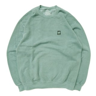 <img class='new_mark_img1' src='//img.shop-pro.jp/img/new/icons5.gif' style='border:none;display:inline;margin:0px;padding:0px;width:auto;' />WKND OVERDYED LOGO CREWNECK SWEAT / JADE (ウィークエンド フーディ/スウェットパーカー)