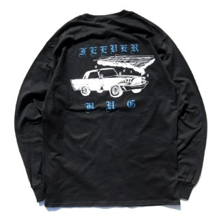 FEEVERBUG CAR CLUB L/S TEE / BLACK 【HORRIBLE'S PROJECT 別注カラー】 (フィバーバグ ロングスリーブTシャツ/長袖)