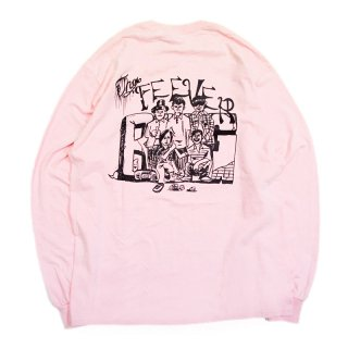 FEEVERBUG CREW L/S TEE / LITE PINK 【HORRIBLE'S PROJECT 別注カラー】 (フィバーバグ ロングスリーブTシャツ/長袖)