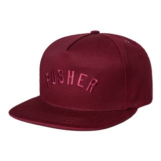 【30%OFF】DQM PUSHER CAP / OX BLOOD (DQM NYC 5パネルストラップバックキャップ) <img class='new_mark_img2' src='//img.shop-pro.jp/img/new/icons41.gif' style='border:none;display:inline;margin:0px;padding:0px;width:auto;' />