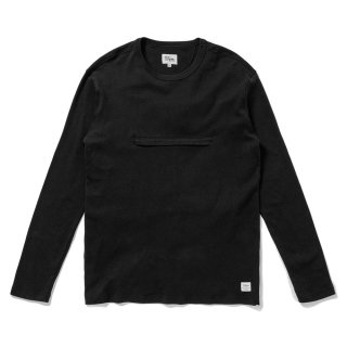 <img class='new_mark_img1' src='//img.shop-pro.jp/img/new/icons5.gif' style='border:none;display:inline;margin:0px;padding:0px;width:auto;' />DQM 90s HEAVY JERSEY POCKET L/S TEE / BLACK (DQM NYC ロングスリーブTシャツ/長袖)