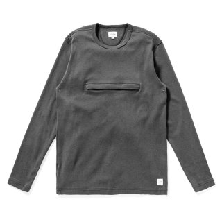 DQM 90s HEAVY JERSEY POCKET L/S TEE / CHACOAL (DQM NYC ロングスリーブTシャツ/長袖)