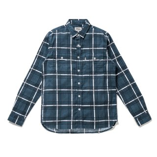 <img class='new_mark_img1' src='//img.shop-pro.jp/img/new/icons5.gif' style='border:none;display:inline;margin:0px;padding:0px;width:auto;' />DQM PLAID FLANNEL SHIRT / DENIM BLUE (DQM NYC フランネルシャツ/長袖)