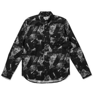 <img class='new_mark_img1' src='//img.shop-pro.jp/img/new/icons5.gif' style='border:none;display:inline;margin:0px;padding:0px;width:auto;' />DQM DUCT TAPE PRINT SHIRT / BLACK (DQM NYC ボタンダウンシャツ/長袖)