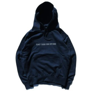 <img class='new_mark_img1' src='//img.shop-pro.jp/img/new/icons5.gif' style='border:none;display:inline;margin:0px;padding:0px;width:auto;' />DAY LIQUOR STORE LOGO HOODIE / NAVY (デイリカーストアー パーカー/スウェット)