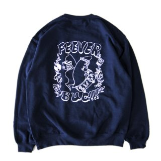 <img class='new_mark_img1' src='//img.shop-pro.jp/img/new/icons5.gif' style='border:none;display:inline;margin:0px;padding:0px;width:auto;' />FEEVERBUG x 373 CREWNECK SWEAT / NAVY (フィバーバグ クルーネックスウェット/トレーナー)