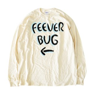 FEEVERBUG SIGNBOARD L/S TEE / NATURAL (フィバーバグ ロングスリーブTシャツ/長袖)