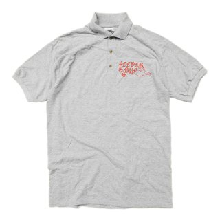 FEEVERBUG CREW S/S POLO SHIRT / HEATHER GREY (フィバーバグ ポロシャツ/半袖)