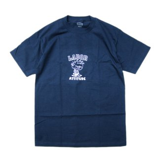 <img class='new_mark_img1' src='//img.shop-pro.jp/img/new/icons5.gif' style='border:none;display:inline;margin:0px;padding:0px;width:auto;' />LABOR ATTITUDE TEE / NAVY  (レイバー Tシャツ/半袖Tシャツ)