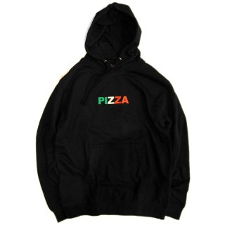PIZZA SKATEBOARDS TORICOLOR HOODIE / BLACK (ピザスケートボード パーカー)