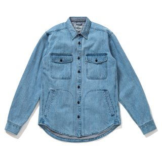 <img class='new_mark_img1' src='//img.shop-pro.jp/img/new/icons5.gif' style='border:none;display:inline;margin:0px;padding:0px;width:auto;' />DQM DENIM CPO SHIRT JACKET /WASH INDIGO  (DQM NYC CPOシャツジャケット/デニムジャケット)