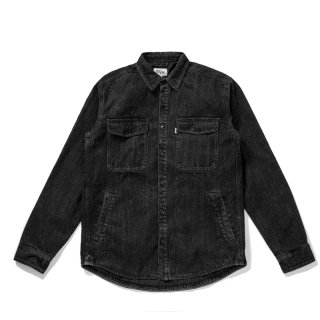 <img class='new_mark_img1' src='//img.shop-pro.jp/img/new/icons5.gif' style='border:none;display:inline;margin:0px;padding:0px;width:auto;' />DQM DENIM CPO SHIRT JACKET /BLACK DENIM  (DQM NYC CPOシャツジャケット/デニムジャケット)