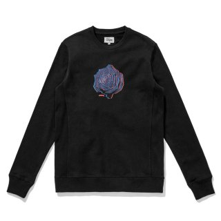 <img class='new_mark_img1' src='//img.shop-pro.jp/img/new/icons5.gif' style='border:none;display:inline;margin:0px;padding:0px;width:auto;' />DQM ROSE CREWNECK SWEATSHIRT /BLACK  (DQM NYC スウェット/クルーネックスウェット)