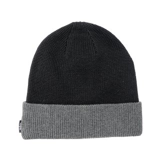 <img class='new_mark_img1' src='//img.shop-pro.jp/img/new/icons5.gif' style='border:none;display:inline;margin:0px;padding:0px;width:auto;' />DQM TWO TONE BEANIE / BLACK(DQM NYC ニットキャップ/ビーニー)