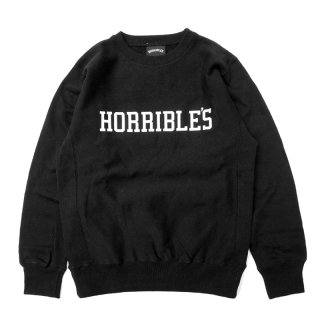 <img class='new_mark_img1' src='//img.shop-pro.jp/img/new/icons5.gif' style='border:none;display:inline;margin:0px;padding:0px;width:auto;' />HORRIBLE'S UNIVERSITY CREWNECK SWEAT / BLACK ホリブルズ スウェット/クルーネック