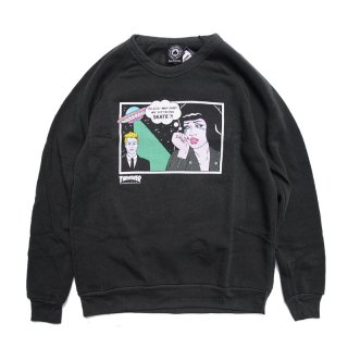 <img class='new_mark_img1' src='//img.shop-pro.jp/img/new/icons5.gif' style='border:none;display:inline;margin:0px;padding:0px;width:auto;' />THRASHER GIRLS ALIEN BOYFRIEND CREWNECK SWEAT / BLACK (スラッシャー パーカー/スウェット)