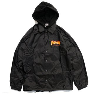 <img class='new_mark_img1' src='//img.shop-pro.jp/img/new/icons5.gif' style='border:none;display:inline;margin:0px;padding:0px;width:auto;' />THRASHER FLAME LOGO HOODED COACH JACKET / BLACK (スラッシャー フード付コーチジャケット)
