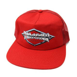 【20%OFF】THRASHER DIAMOND EMBLEM MESH CAP / RED (スラッシャー メッシュキャップ/トラッカーキャップ) <img class='new_mark_img2' src='//img.shop-pro.jp/img/new/icons41.gif' style='border:none;display:inline;margin:0px;padding:0px;width:auto;' />