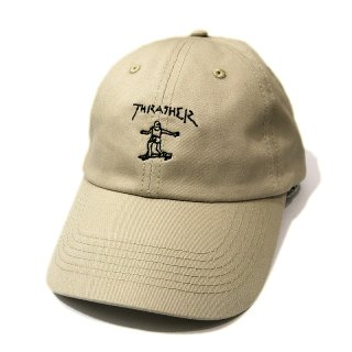 <img class='new_mark_img1' src='//img.shop-pro.jp/img/new/icons5.gif' style='border:none;display:inline;margin:0px;padding:0px;width:auto;' />THRASHER GONZ OLD TIMER STRAPBACK BALL CAP / TAN (スラッシャー ボールキャップ/ポロキャップ)