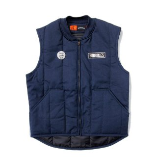 <img class='new_mark_img1' src='//img.shop-pro.jp/img/new/icons5.gif' style='border:none;display:inline;margin:0px;padding:0px;width:auto;' />HORRIBLE'S BITTER LOGO QUILTED LINER VEST / NAVY (ホリブルズ ワークベスト)