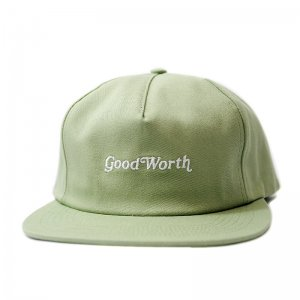 <img class='new_mark_img1' src='//img.shop-pro.jp/img/new/icons5.gif' style='border:none;display:inline;margin:0px;padding:0px;width:auto;' />Good Worth & Co. OG LOGO SNAPBACK CAP / AVOCADO (グッドワース 5パネルスナップバックキャップ)
