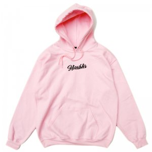 HORRIBLE'S BUNNY SCRIPT HOODED SWEATSHIRT / LIGHT PINK (ホリブルズ フーディー/スウェット)