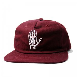 <img class='new_mark_img1' src='//img.shop-pro.jp/img/new/icons5.gif' style='border:none;display:inline;margin:0px;padding:0px;width:auto;' />THEORIES HAND OF THEORIES SNAPBACK CAP / BURGUNDY (セオリーズ 5パネルキャップ)