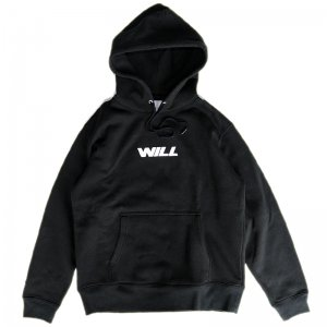 <img class='new_mark_img1' src='//img.shop-pro.jp/img/new/icons55.gif' style='border:none;display:inline;margin:0px;padding:0px;width:auto;' />WILL JET LOGO PULLOVER HOODIE / BLACK (ウィル パーカー)