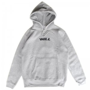 <img class='new_mark_img1' src='//img.shop-pro.jp/img/new/icons55.gif' style='border:none;display:inline;margin:0px;padding:0px;width:auto;' />WILL JET LOGO PULLOVER HOODIE / HEATHER GREY (ウィル パーカー)