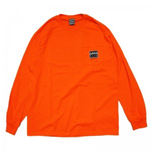 <img class='new_mark_img1' src='//img.shop-pro.jp/img/new/icons1.gif' style='border:none;display:inline;margin:0px;padding:0px;width:auto;' />SAYHELLO Bakin' Pocket L/S TEE / SAFETY ORANGE (セイハロー  ロングスリーブTEE/ロンT)