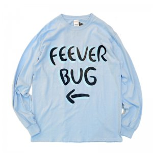 FEEVERBUG SIGNBOARD L/S TEE / LIGHT BLUE (フィバーバグ ロングスリーブTシャツ/長袖)