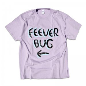 FEEVERBUG SIGNBOARD TEE / LIGHT PURPLE (フィバーバグ Tシャツ/半袖)