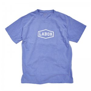 LABOR CREST LOGO OVERDYED TEE / ROYAL BLUE (レイバー Tシャツ/半袖Tシャツ)