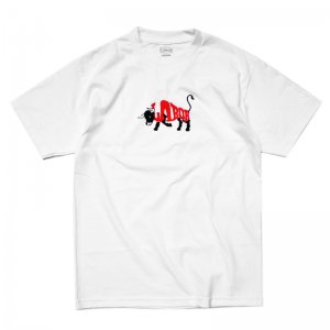 <img class='new_mark_img1' src='//img.shop-pro.jp/img/new/icons5.gif' style='border:none;display:inline;margin:0px;padding:0px;width:auto;' />LABOR BULL TEE / WHITE (レイバー Tシャツ/半袖Tシャツ)