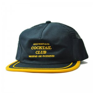 <img class='new_mark_img1' src='//img.shop-pro.jp/img/new/icons5.gif' style='border:none;display:inline;margin:0px;padding:0px;width:auto;' />Good Worth & Co. UNDERPAID SNAPBACK CAP/ NAVY×GOLD (グッドワース 5パネルメッシュキャップ)