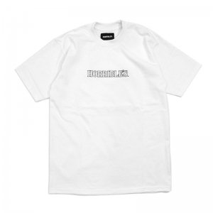 <img class='new_mark_img1' src='//img.shop-pro.jp/img/new/icons5.gif' style='border:none;display:inline;margin:0px;padding:0px;width:auto;' />HORRIBLE'S BASIC LOGO T-SHIRT / WHITE (ホリブルズ Tシャツ)