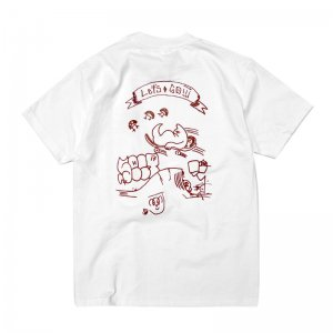 FEEVERBUG LET'S GO TEE / WHITE×MAROON (フィバーバグ Tシャツ/半袖)
