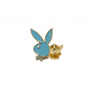 <img class='new_mark_img1' src='//img.shop-pro.jp/img/new/icons5.gif' style='border:none;display:inline;margin:0px;padding:0px;width:auto;' />Good Worth&Co × PLAY BOY Bunny Head Lapel Pin / Teal (アクセサリー ピンズ)