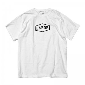 <img class='new_mark_img1' src='//img.shop-pro.jp/img/new/icons5.gif' style='border:none;display:inline;margin:0px;padding:0px;width:auto;' />LABOR CREST LOGO TEE / OVERDYED WHITE (レイバー Tシャツ/半袖Tシャツ)