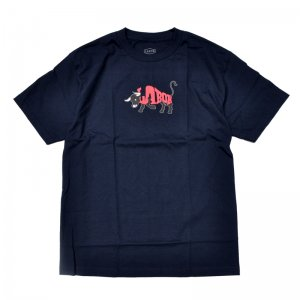 <img class='new_mark_img1' src='//img.shop-pro.jp/img/new/icons5.gif' style='border:none;display:inline;margin:0px;padding:0px;width:auto;' />LABOR BULL TEE / NAVY (レイバー Tシャツ/半袖Tシャツ)